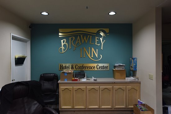 Closer View of Brawley Inn Logo at Check In Office
