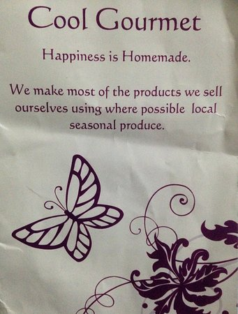 """Cool Gourmet : """"Happiness is Homemade."""" their slogan."""