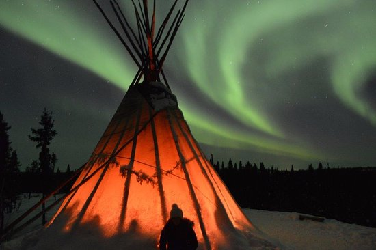 Blachford Lake Lodge: Photo of the Northern Lights we saw while at Blachford