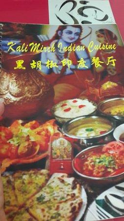kali mirch(black pepper)indian cuisine : Menu