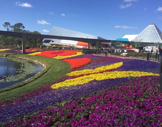 Epcot World Showcase 2018 Colorful Flowers Garden Festival