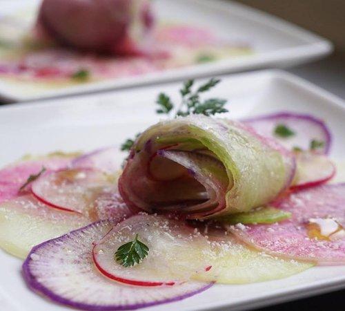 Simorre, Francia: carpaccio de radis