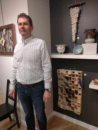 Lisle, IL: Paul Gausemel, another resident artist, showcases his work in our gallery and gift area