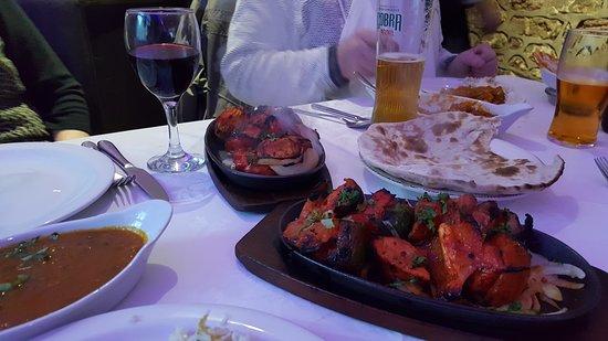 Llanymynech, UK: platters sizziling