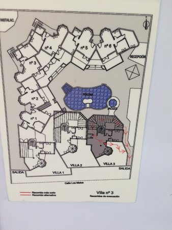 Infiniti Fuerteventura: plan of complex . Villa 3 is divided into flat 4 Tpoaz