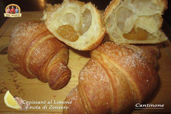 Paderno d'Adda, Italy: Croissant TreMarie al Limone e nota di Zenzero