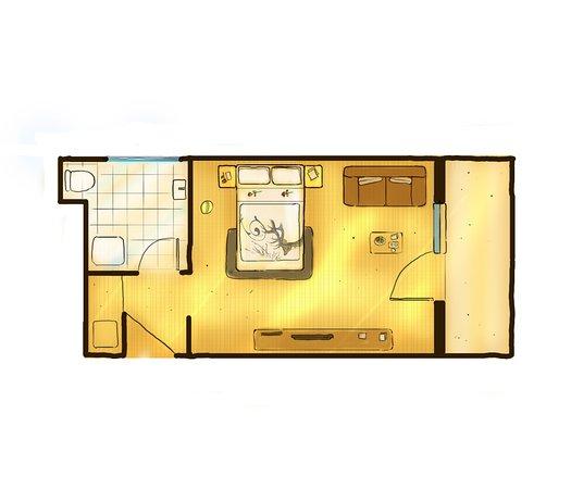 Hotel Central: schönes, geräumiges Doppelzimmer ca. 24m²