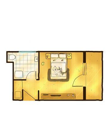 Hotel Central: kleines Doppelzimmer ca. 20m²