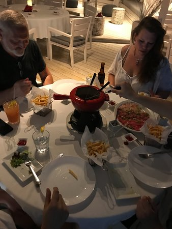 Chrishi Beach Club: Order a Family Style Fondue Night, just let us know......