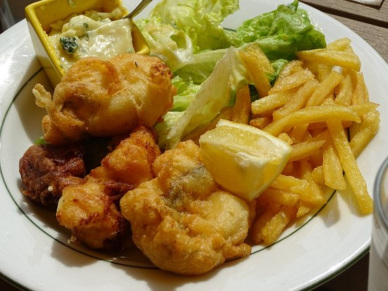 La Gouesniere, Francia: Fish and chips..