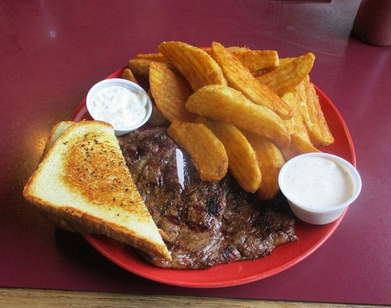 Conconully, Waszyngton: A Steak You'd Get At a Truckstop...