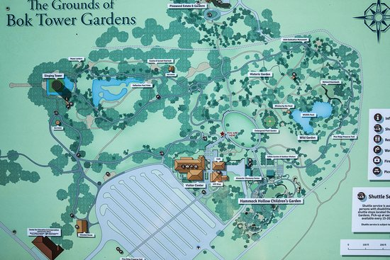 Map of the Grounds Picture of Bok Tower Gardens Lake Wales