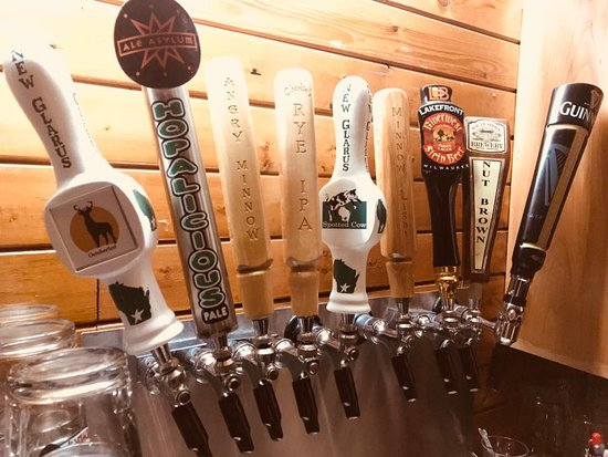 Stone Lake, WI: Largest selection of craft brews on tap with a friendly Northwoods atmosphere & great homemade f