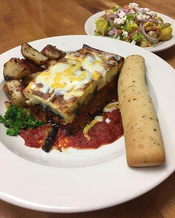 Aiken, SC: Moussaka with side Greek salad