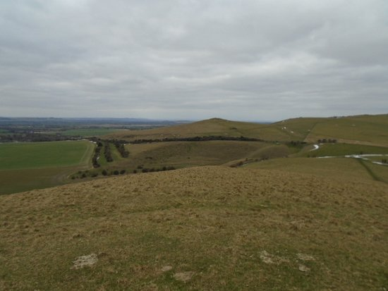Alton Barnes, UK: View from the top of Knap Hill