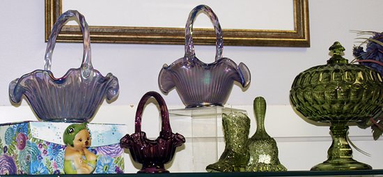 Williamstown, WV: Baskets and more in a rainbow of colors, styles and sizes! Fenton Gift Shop 800-319-7793