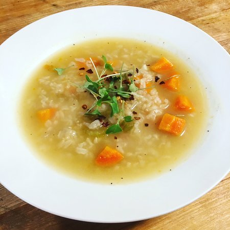 Idyllwild, Kalifornien: Lemon Rice Soup