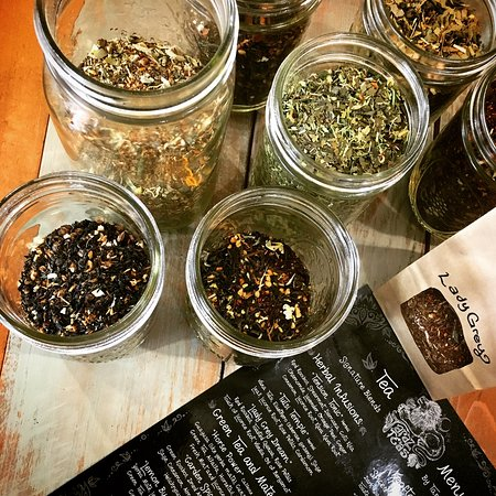 Paonia, CO: Locally blended tea menu