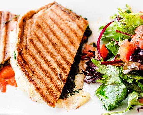 Pound Ridge, NY: Piadina .:. Whole Wheat Orvieto - spinach, parma prosciutto, pecorino cheese