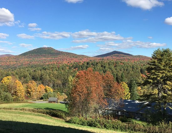 Marshfield, VT: Our beautiful fall foliage view!