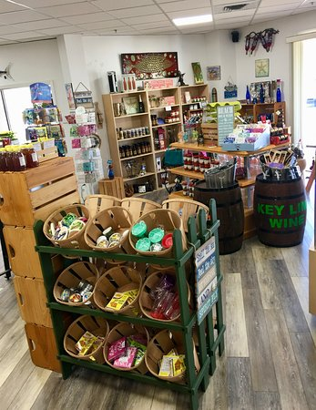 Panama City Beach Winery - Browse our gift shop while enjoying a glass of wine.