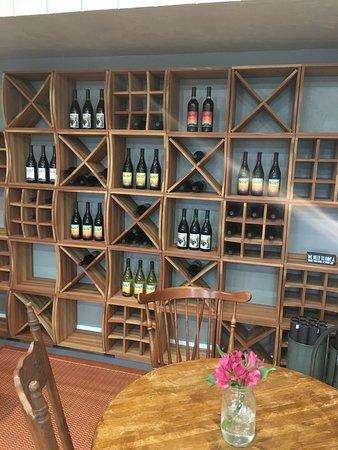 Paonia, CO: Wine Tasting Room - wine racks