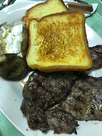 Farmington, MN: Ribeye with extra texas toast instead of soup or salad.