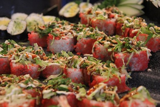Jaffa at the Oval: Sushi on Fridays at our International Lunch Buffet