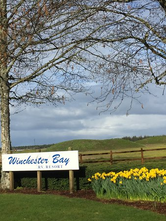 Winchester Bay RV Resort: Entrance to park