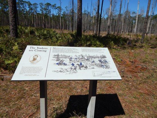 Olustee, FL: trail marker