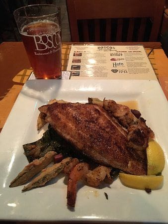Boscos: Catfish dinner with a tasty Bombay IPA