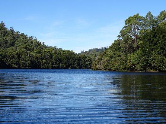 Corinna, Australië: the beautiful Pieman river