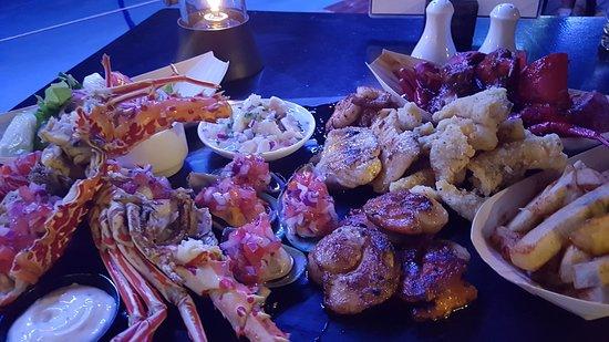 Sonaisali Island, Fiji: Seafood platter