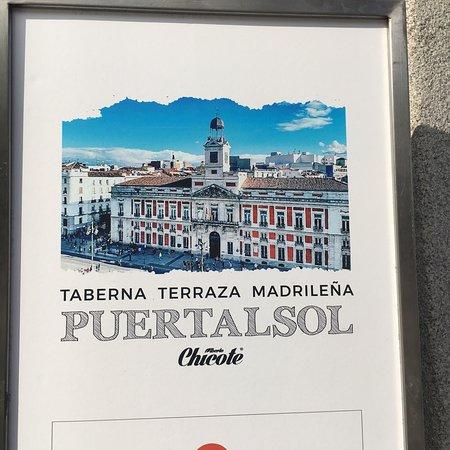 Menu Picture Of Taberna Puertalsol Madrid Tripadvisor