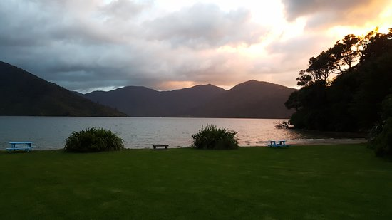 Sunrise over Endeavour Inlet