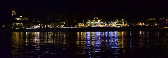 The Racha: From Hotel port at night.