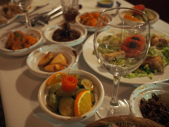 Riad Zolah: appetizers! So very good!