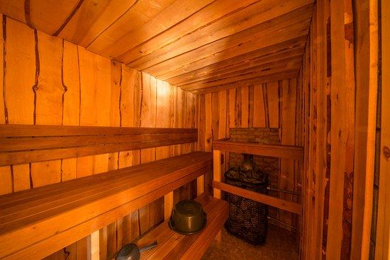 Muodoslompolo, Sweden: River lodge sauna