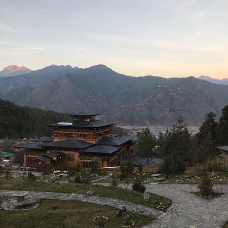 Great view and a resort kind of hotel in Paro