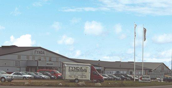 Fynda Kopcenter: Utsidan på Fynda Köpcenter