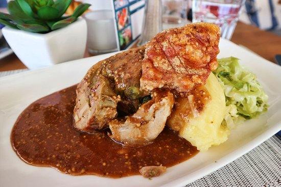 Slow cooked pork with mash