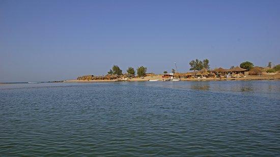 Somone, Senegal: Restaurant nahe des Naturschutzgebietes