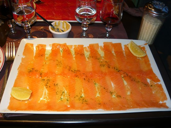 Bistro Romain : Carpaccio de salmão