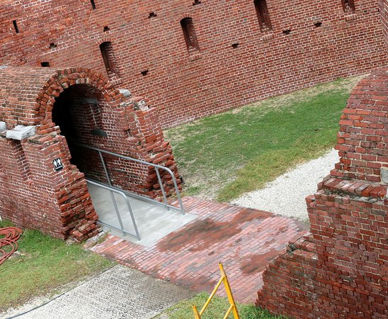 Fort East Martello Museum: exterior view of passageway
