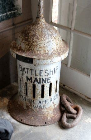 Fort East Martello Museum: Artifact of the Battleship Maine I guess.