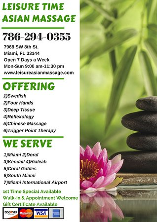 Leisure Time Asian Massage (Miami, FL): Hours, Address - TripAdvisor