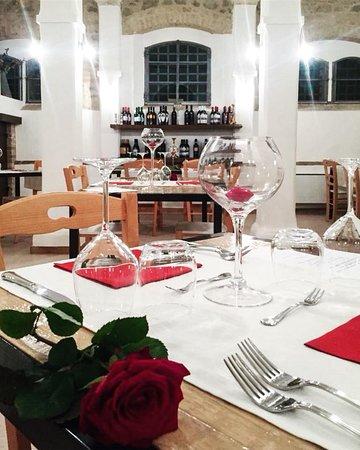 Castello delle Forme, Italia: serata di san valentino con menu di pesce