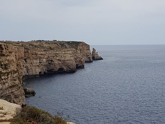 Hal Far, Malta: View outside of the cave