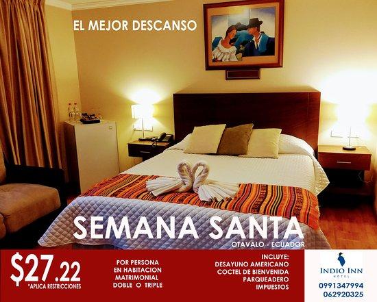 Hotel El Indio Inn: Te esperamos el el mejor lugar para descansar, 099 134 7994 - 062 920 325 aplica 24 al 31 marzo