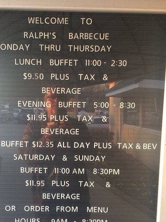 Weldon, Karolina Północna: Ralph's pricing Schedule